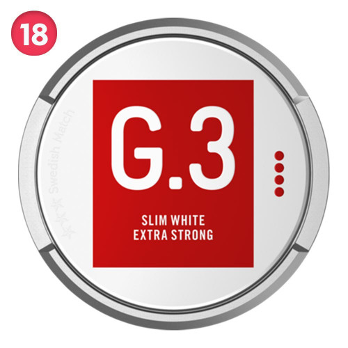 General Slim White Portion Extra Strong 5-pack