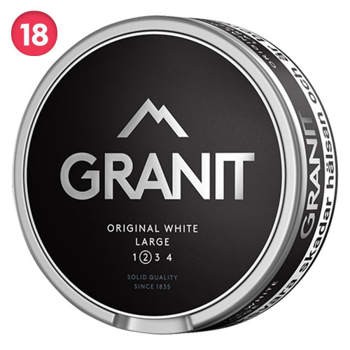 Granit Original White Portion Large 10-pack