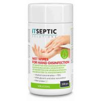 ITSEPTIC Handdesinfektion Våtservetter Liten >70% Alkohol 9x13,5cm 100 st.