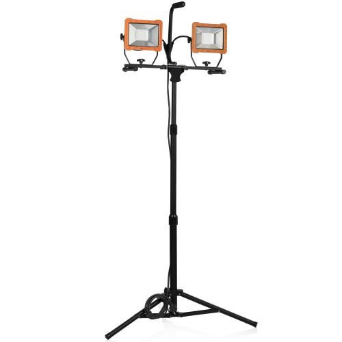 Smartwares LED-arbetslampa tripod 2 x 30W