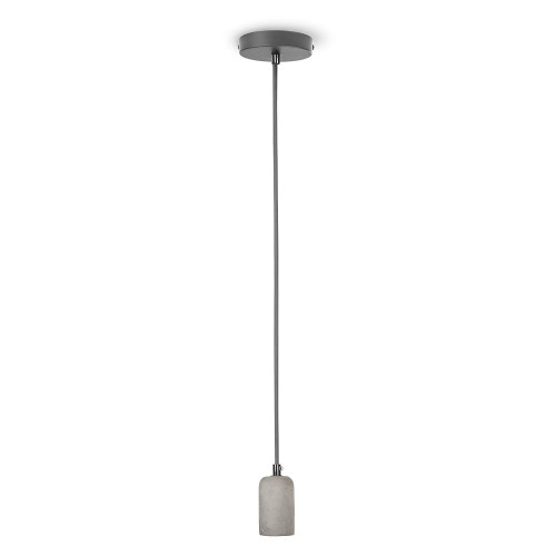 Smartwares Pendel m tygkab E27 Cement Cyl