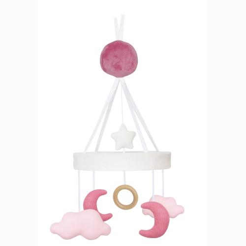 Jabadabado Musikmobil moln/måne rosa