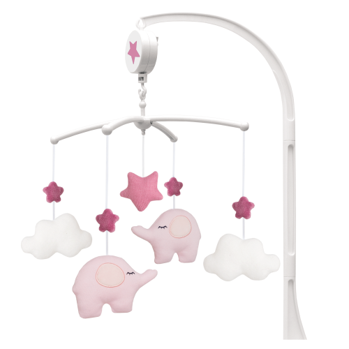 Jabadabado Musikmobil elefant rosa
