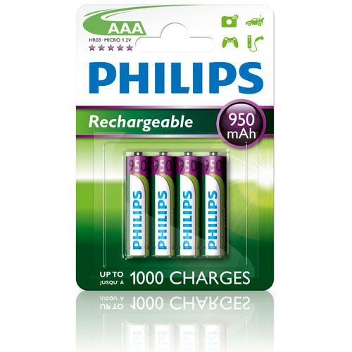 Philips Laddningsbart batteri AAA 950