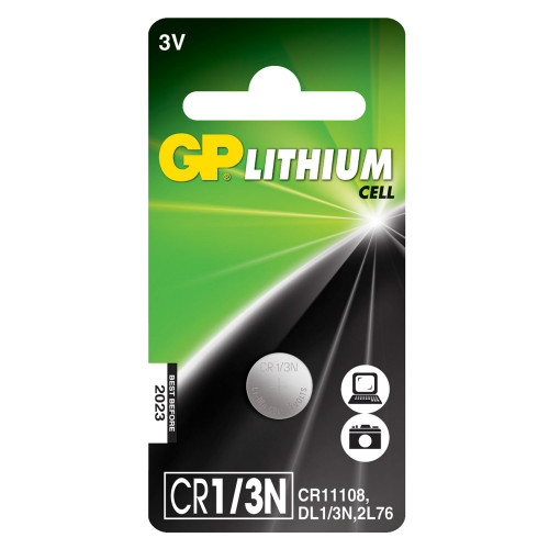 GP CR1/3N  3V  Lithium 1-pack