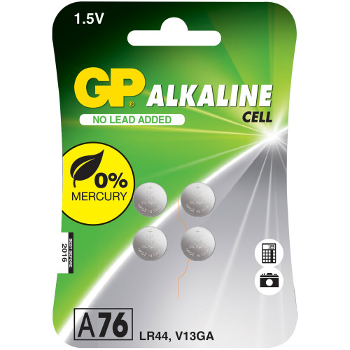 GP A76 / LR44 Knappcell 4-pack