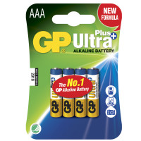 GP Ultra Plus Alkaline AAA 4-pack