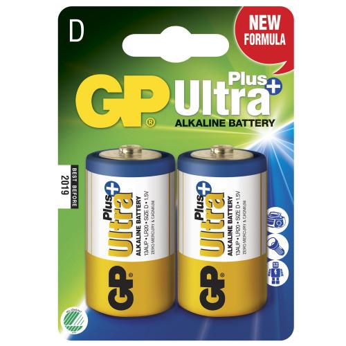 GP Ultra Plus Alkaline D LR20 2-p