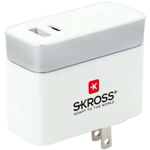 SKROSS USB-laddare USB-C 5,4A US/JP