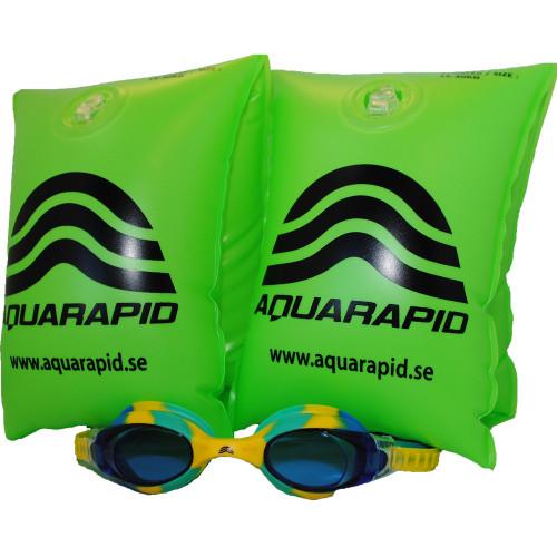 Aquarapid Kit jr Swimkid yellow/blue + S