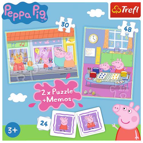 Trefl 4-i-1 Pussel Peppa Memories