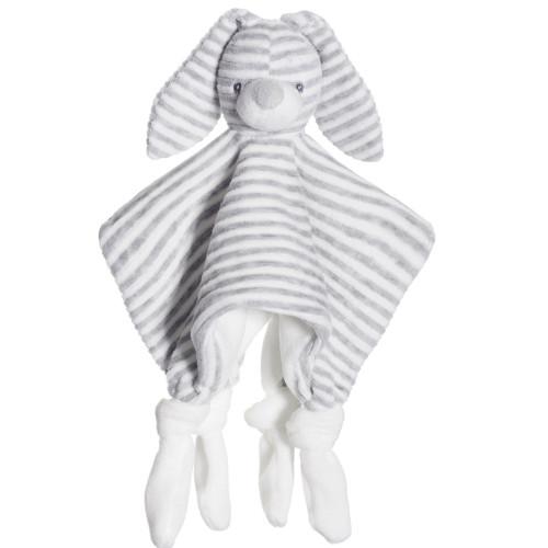 Teddykompaniet Cotton Cuties snuttefilt grå