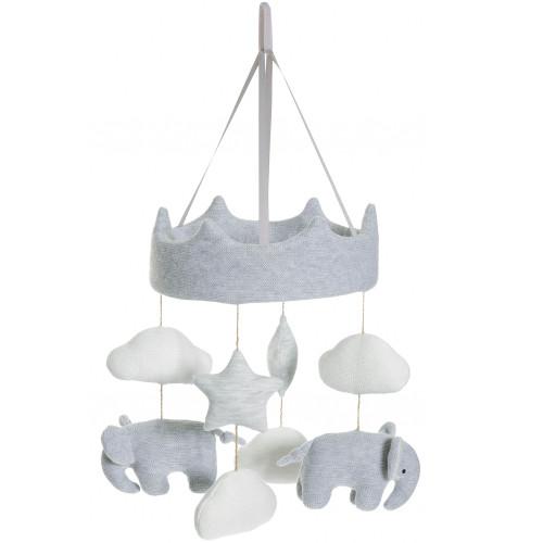 Teddykompaniet Cozy Knits Elefant Mobil