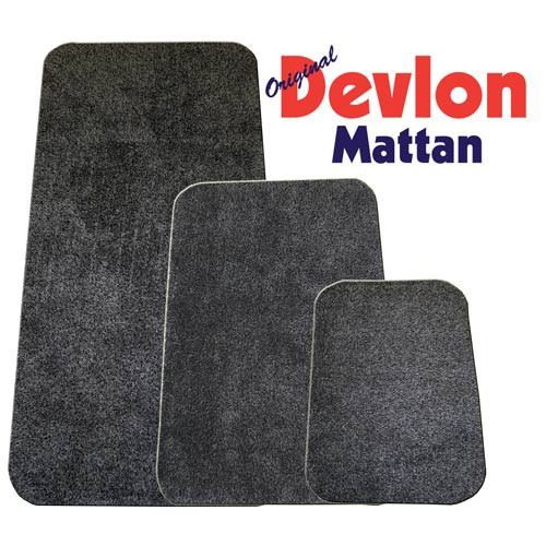 Devlon Matta 75X50 cm Grå