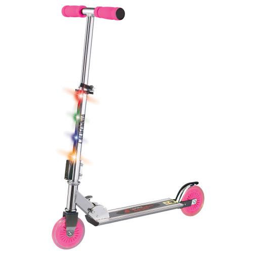Klippex Sparkcykel med belysning Rosa
