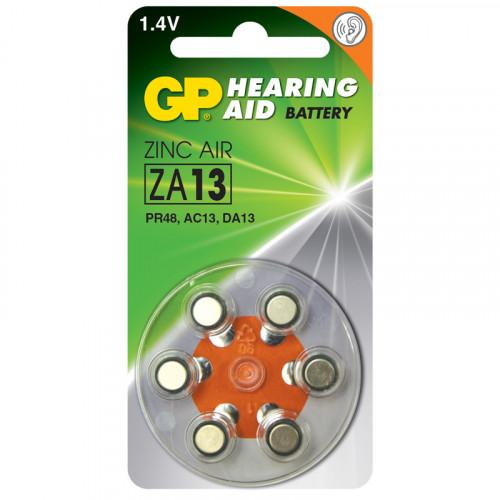 GP ZA 13-D6 Hörapparatsbatteri 6p