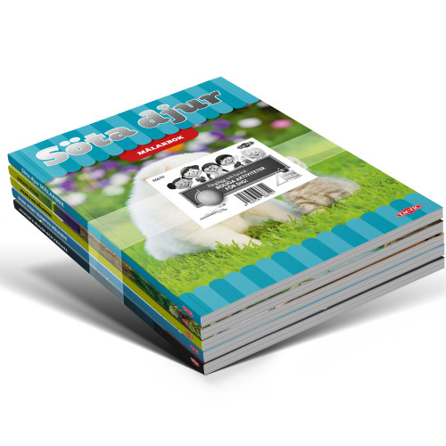 Tactic Målarböcker 5st