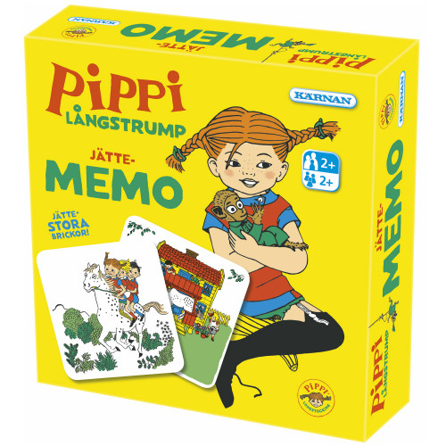Kärnan Jättememo Pippi Långstrump