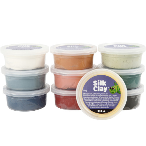 Silk Clay Mixade Färger Dova Färger 10x4