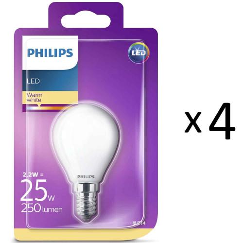 Philips LED E14 Klot 25W Frost 4st