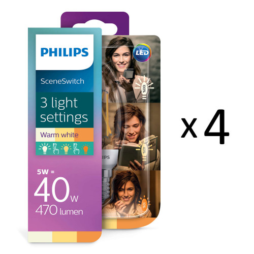 Philips LED SceneSwitch Filam. E14 4st