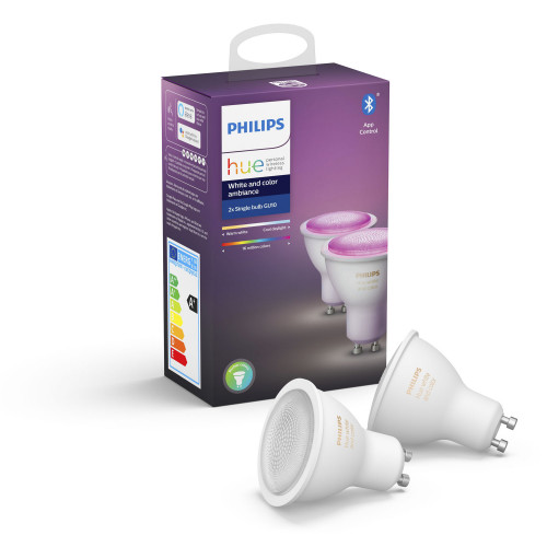 Philips Hue White and Color GU10 2pack