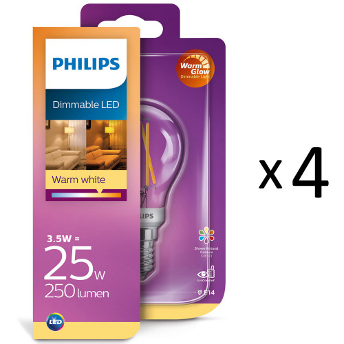 Philips LED Filament Klot E14 25W Warm