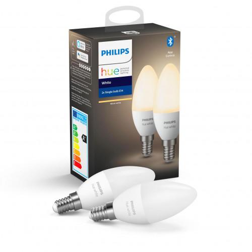 Philips Hue White E14 Kron 2-pack
