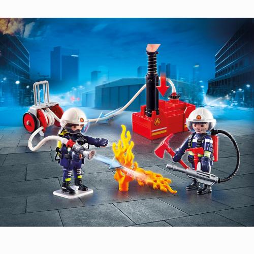 Playmobil Brandmän med vattenpump