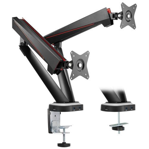 """LogiLink Gaming-monitorarm 17-32"""" Dual"""