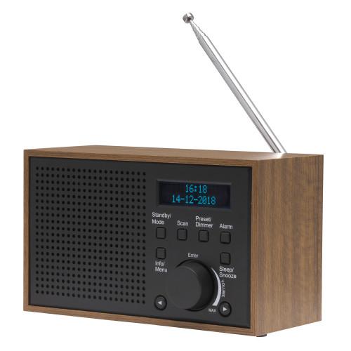 Denver FM/DAB+ Radio Trä/Grafit
