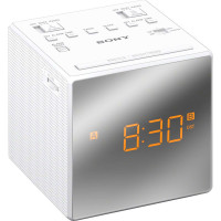 SONY Klockradio m. två alarm Vit