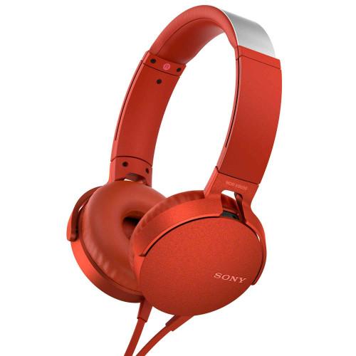 SONY Headset MDR-XB550AP Röd