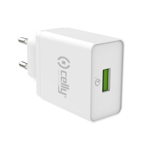 Celly USB-laddare QC3.0 18W