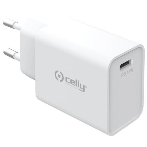 Celly USB-laddare PD USB-C 18W