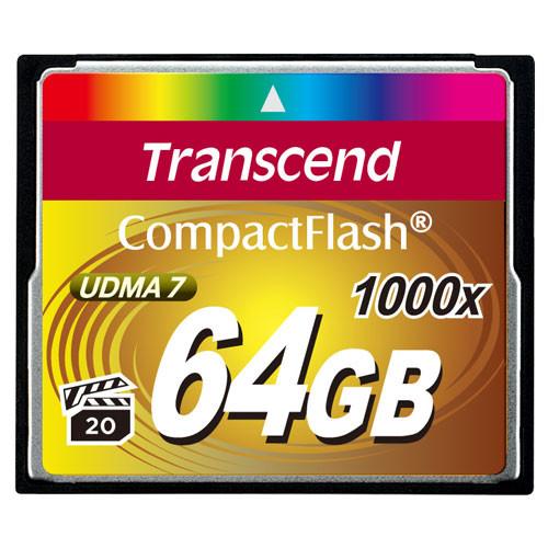 Transcend CompactFlash  64GB 1000x