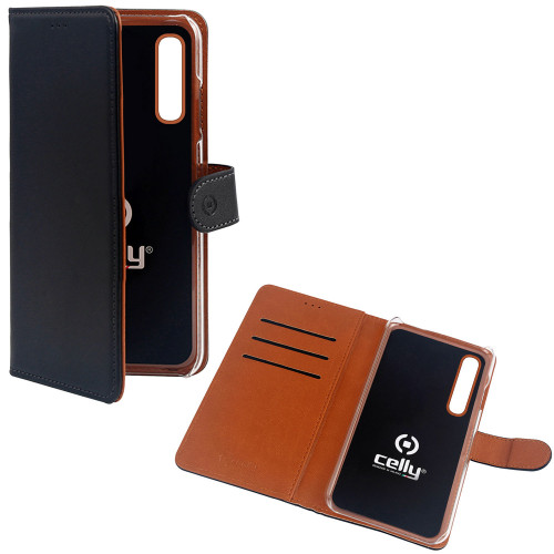 Celly Wallet Case Galaxy A70 Sv/be