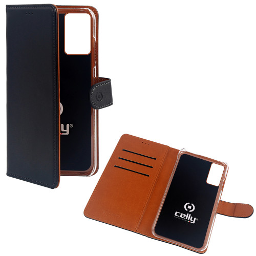 Celly Wallet Case Galaxy A71 Svart