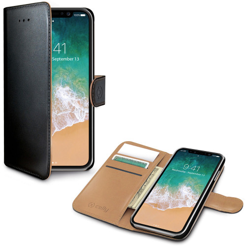Celly Wallet Case iPhone X / Xs Sv