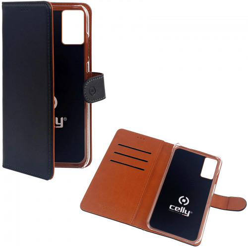Celly Wallet Case Galaxy A41 Svart