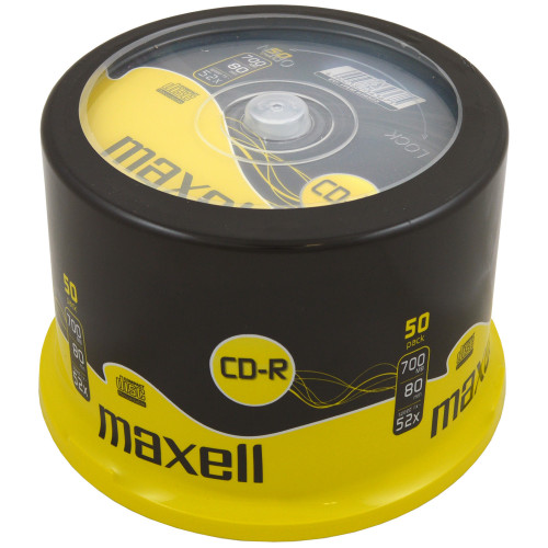 Maxell CD-R 52x 80min 50-pack cakebox