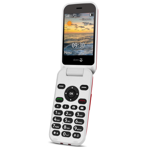 Doro 6621 3G Röd/Vit