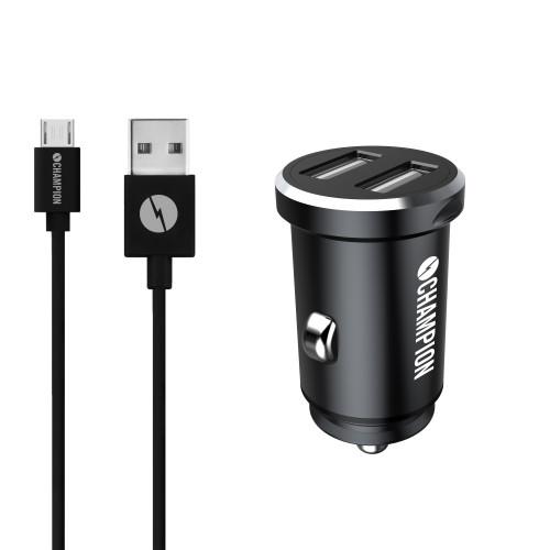 Champion Billaddare Duo USB-A inkl. mic