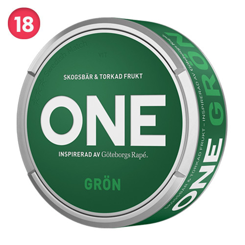 Göteborgs Rapé ONE GRÖN 10-pack