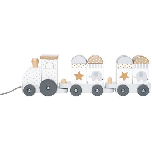 Jabadabado Dragleksak tåg med klossar sil