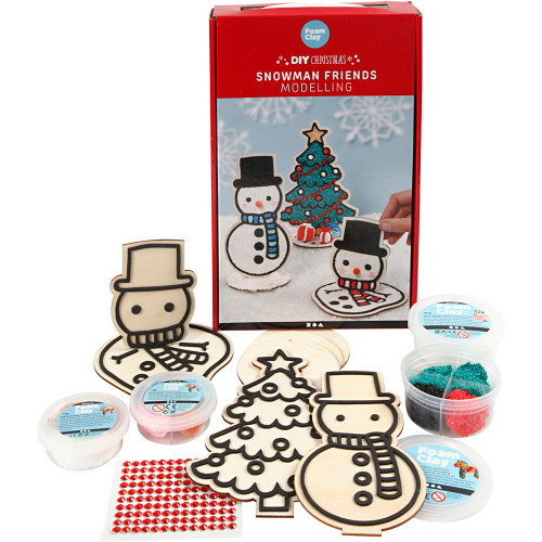 Creotime Snögubbe och julgran modelleri