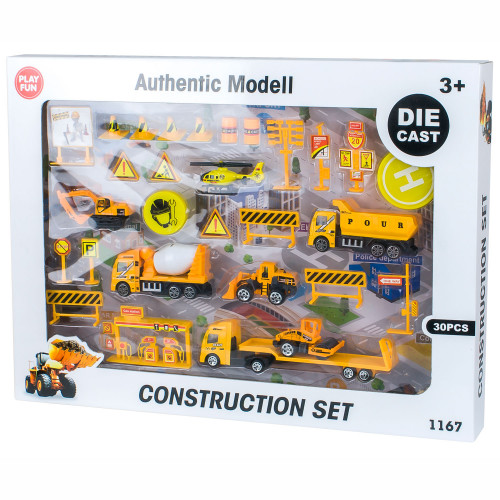 Playfun Die Cast Construction Playset
