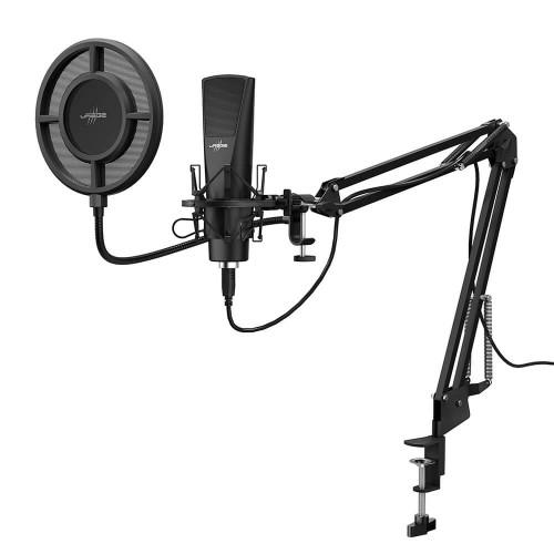 URAGE Mikrofon Stream 800 HD Studio Streaming Svart
