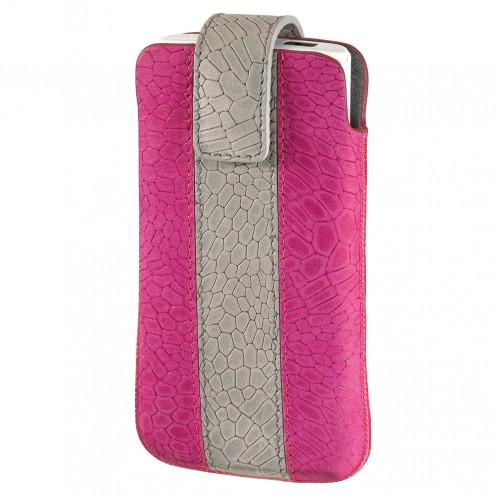 HAMA Mobilväska Sleeve Universal Rosa/Grå (iPhone4s)