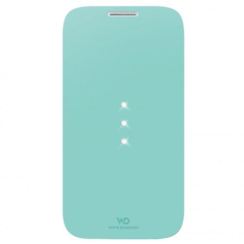 WD WHITE-DIAMONDS Crystal Booklet Mintgrön Samsung S4 Mini